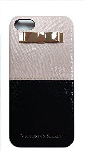 Victoria's Secret Iphone 5 / 5S Cover Case Colorblock Black Pink Faux Leather