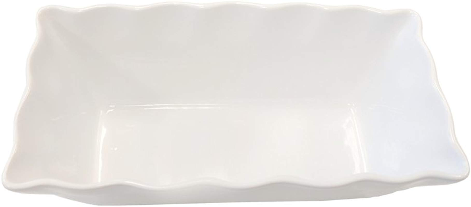 Cook Pro White Ruffled Stoneware Bakeware Loaf Pan 9 5 X 4 5 X 3 25 Sturdy Ceramic That Is Lead And Cadmium Free
