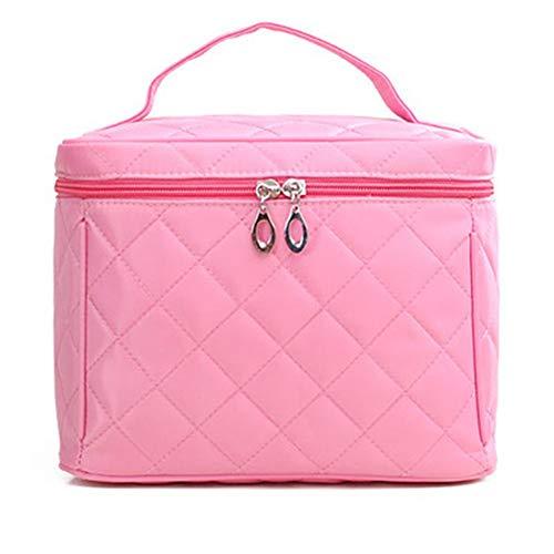 HUATINGRHHO Maquillage Trousse À Maquillage Étanche Détachable Maquillage Organisateur Trousse De Toilette Cosmétique Sac pour Hommes Femmes, Pink