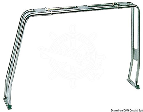 Osculati VA-Stahl Geräteträger f.Boote, klappbar 125-220 cm