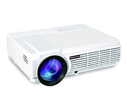 Projector PRAVETTE Outdoor Projector Support Full HD Video/1080P Movie, Home Audio/LCD,LED TV/Digital Video Recorder,Phone/PC/Camera 240 Screen 50,000-hour Life, Model 1