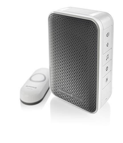 Honeywell Home RDWL313P2000 Doobell Plug-in Wireless Doorbell & Push Button - 3 Series, Gray