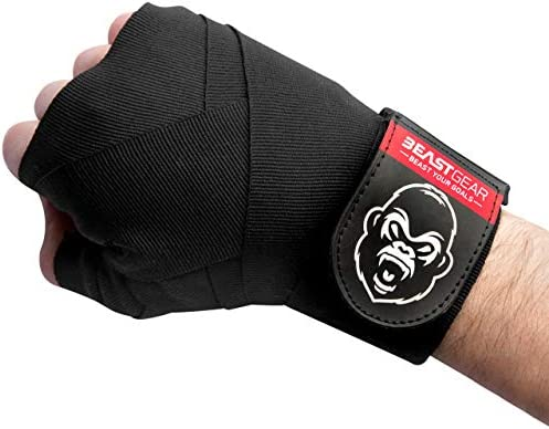 Beast Gear Advanced Boxing Hand Wraps – For Combat Sports, MMA and Martial Arts - 4.5 Meter Elasticated Bandages