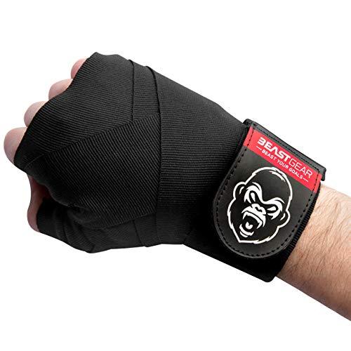 Beast Gear - Profi Boxbandagen - Premium Qualität Handbandagen für Kampfsport, MMA und Martial Arts - 4,5 Meter Elastische Bandagen