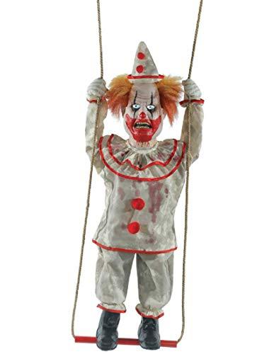 Morris Animated Swinging Happy Clown Doll Prop