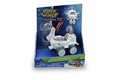 Super Wings - Astra's Moon Rover Vehicle | Transform-A-Bot Astra Figure US730844