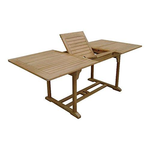 SEDEX Dundee Tisch 150-200x90 cm ausziehbar FSC 100% Eukalyptusholz Gartentisch Auszugstisch Holztisch Massivholz