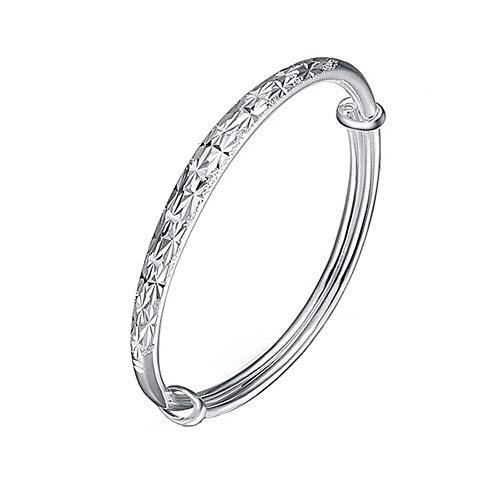 Nanhong, Armreif, 925erSterling-Silber, glitzernde Sterne, filigran, mit Schneeflockenmuster