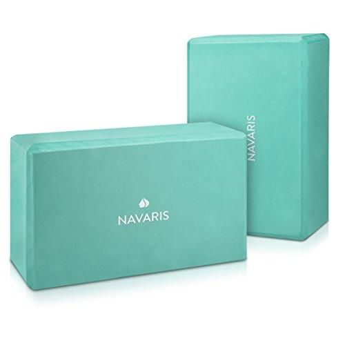 Navaris 2in1 Set Yoga Blöcke - 2X Yoga Block Hilfsmittel für Pilates Yoga Training - Yoga Zubehör Einsteiger Fortgeschrittene