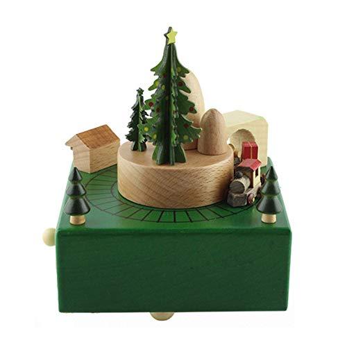 Feixunfan Carillon In Legno Carillon Unico Leggero Leggero Carillon Creativo For Treno Di Natale For Regali Di Compleanno For Amanti E Bambini Perfetto Regalo Romantico E Bello