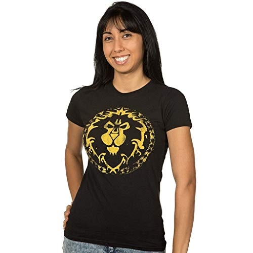 JINX Word of Warcraft Alliance Shield Damen Women\'s T-Shirt (XL)