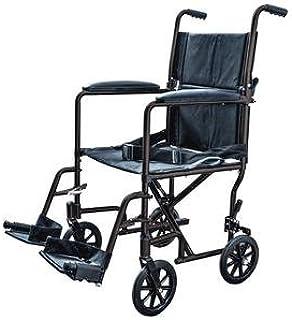 "ProBasics Aluminum Transport Chair Lightweight Wheelchair, 19"" (Black)"