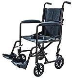 ProBasics Aluminum Transport Chair Lightweight Wheelchair, 19' (Black)