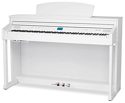 Steinmayer DP-380 WM Digitalpiano (88 Tasten, weiße Tasten aus Echtholz, Hammermechanik, Kopfhöreranschlüsse, Mikrofonanschluss, MP3 Player) weiß matt