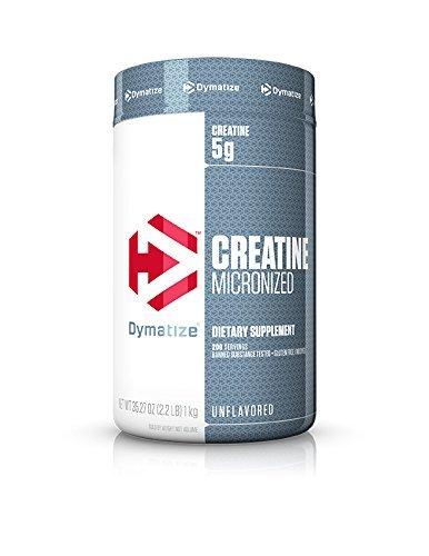 Dymatize Micronized Creatine, suplemento de creatina micronizada, maximiza la creatina muscular, para entrenamientos de alta intensidad, 5 g por porción, sin sabor, 1 kilogramo