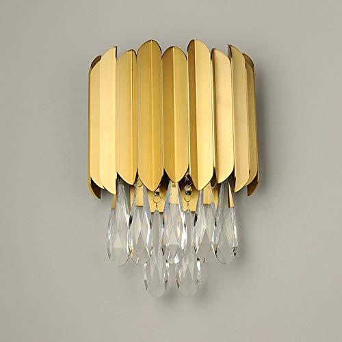 Lampada da parete di cristallo semplice Sconce di metallo geometrico in metallo geometrico, moderne lampade a muro per soggiorno Corridoio Camera da letto Legge per camera da letto, E14 Apparecchio pe