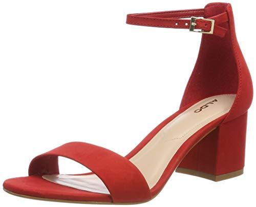 ALDO VILLAROSA, Sandalia con Pulsera para Mujer, Rojo (Red Nabuck 63), 39 EU