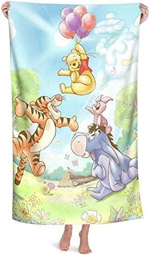 Winnie The Pooh - Toalla de playa infantil, diseño de tigre Piglet Tigger Eeyore