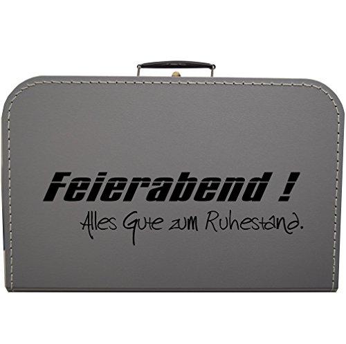 Koffer zum Ruhestand, Rente, Pension - Größe und Farbe wählbar (Silbergrau, 45 cm)