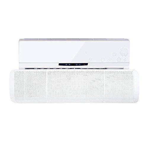 ZMAYA STAR エアコン風よけカバー エアコン用風よけ板 可変式風除け羽板 冷房暖房通用 風向き角度調節 エアコンカバー 風よけ 冷房 暖房 直風防止 冷え性 底冷え 壁に穴あけ不要 Z-190827-14