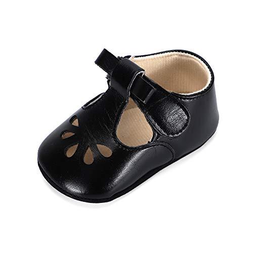 Schwarz Baby Schuhe Mädchen 6-12 monate BabySchuhe Kleinkind Lauflernschuhe Weiche Sohle Flach
