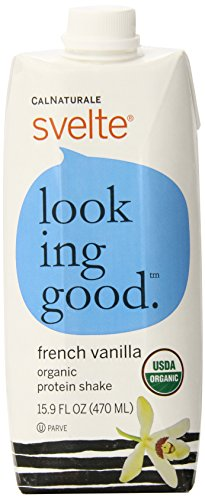 CalNaturale Svelte Organic Protein Shake, French Vanilla, 15.9 Ounce (Pack of 6)