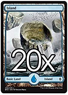20 Battle for Zendikar Island #258 Magic the Gathering Basic FULL ART Land Lot