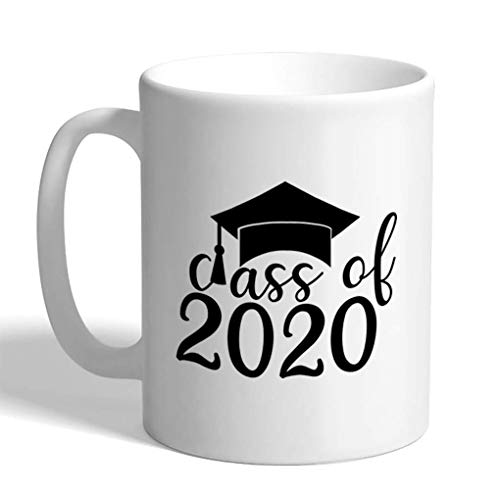 shenguang Coffee Jarra 11 Ounces Class of 2020 Grad Graduation Senior A Holidays and Occasions Ceramic Tea Cup