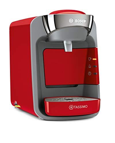 Bosch TAS3208 Tassimo Suny - Cafetera monodosis, color rojo y gris