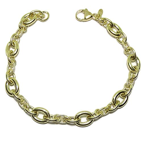 Never Say Never Espectacular Pulsera de Oro Amarillo de 18k para Mujer de 19,5cm de Largo por 0.8cm de Ancho. Peso; 6.80gr de Oro de 18k