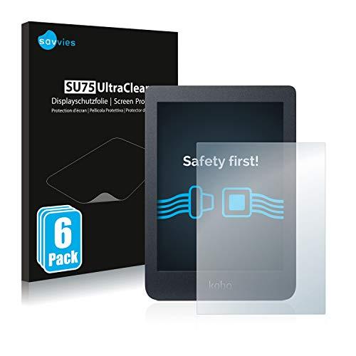 Savvies 6x Schermbeschermer compatibel met Kobo Nia Screenprotector ultra transparant