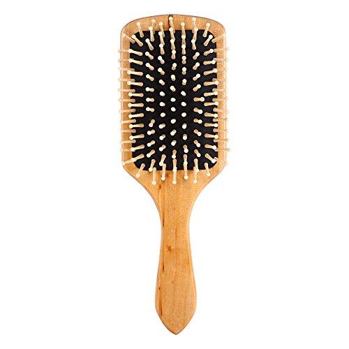 Haokaini Peigne de Massage en Bois Anti-Statique Démêlant Le Cuir Chevelu Naturel Brosse à Cheveux de Palette de Soins de Santé pour Les Femmes Hommes Enfants