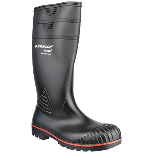 Dunlop A442031 Bottes de Wellington ultra-résistantes pour homme Noir