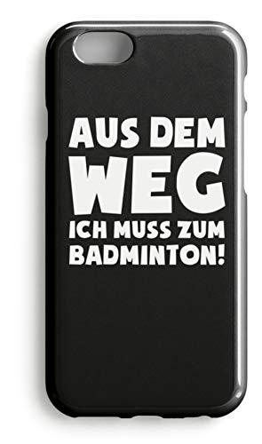 shirt-o-magic Handyhülle Badminton Federball: Muss zum Badminton! - Case -iPhone 8-Schwarz