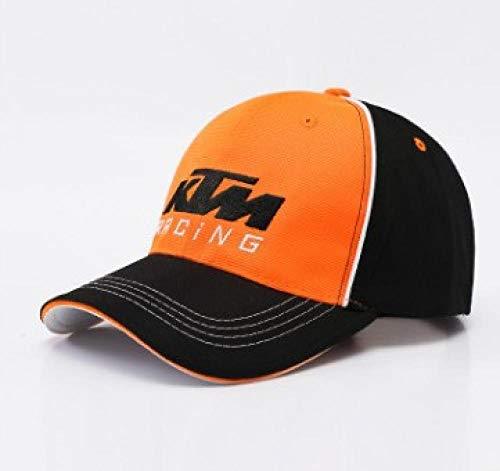 Casquette de Baseball Motors Racing Team Vintage Denim en Coton mélangé Sport Unisexe @ Moitié Orange KTM_Adjustable