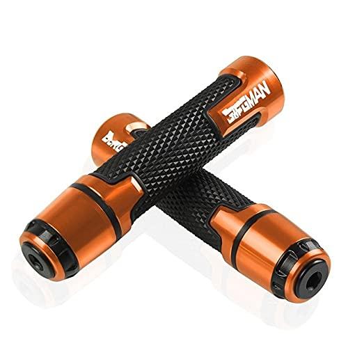 Empuñaduras de Moto Manillar para Su-zuk para Burgm-an 650, 400, 125, 200 AN650 AN400 AN125 AN200, Empuñadura De Motocicleta, Accesorios De Cubierta (Color : Naranja)
