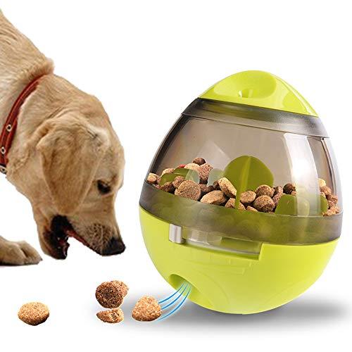 Langdy Hundefutter Ball, Interaktives Hundespielzeug fur Trainingshund IQ, Lebensmittelspender,Unzerstörbarer Snack Feeding Ball für kleine mittelgroße Hunde und Katzen