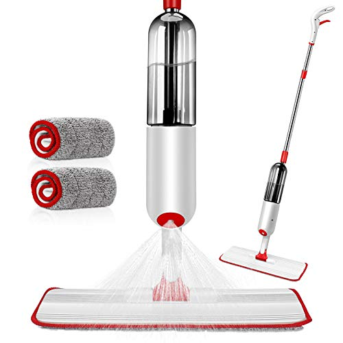 AYOTEE Microfiber Spray Mop for Floor Cleaning Hardwood Floor Mop with 30Pcs Floor Cleaning Slices,3 Mop Pads,1 Refillable Spray Bottle Flat Mop for Hardwood Ceramics Tile Laminate