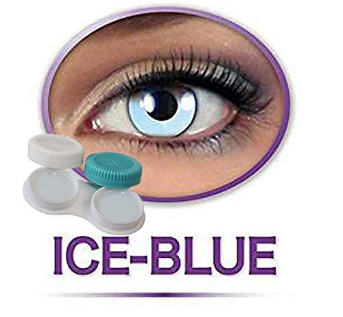 KarnevalsTeufel Kontaktlinsen farbig ohne Stärke- hellblau Engel Icefee blau Eisfee Motivlinsen