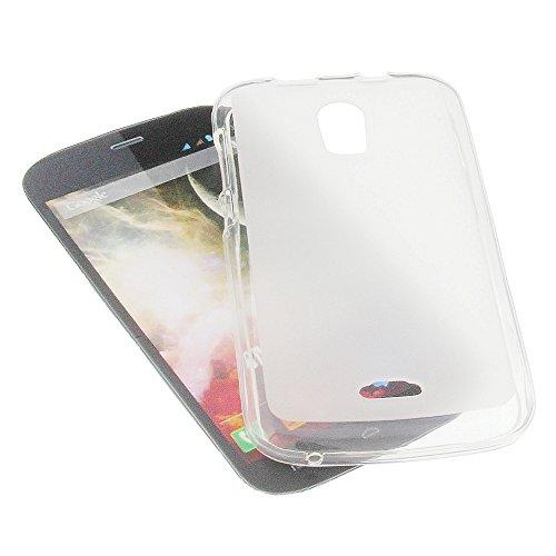 foto-kontor Tasche für Wiko Darkmoon Gummi TPU Schutz Handytasche milchig transparent