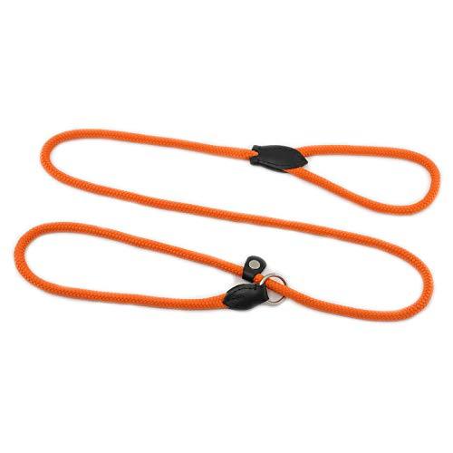 Monkimau Hondriem voor honden met handgreep verstelbaar, oranje
