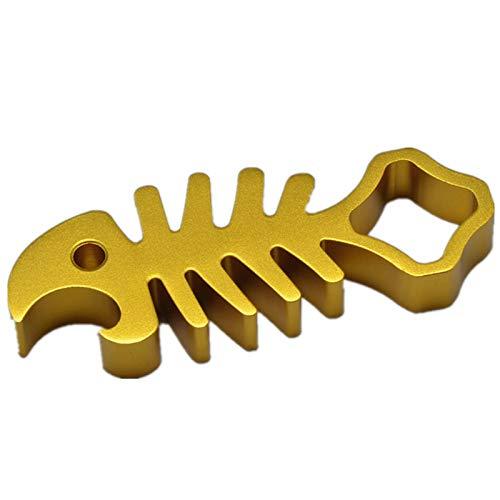 Herramienta de llave inglesa para tuercas de espina de pescado, una herramienta de apriete de llave inglesa para tuercas de espina de pescado de aluminio para GoPro Hero 4/3 + / 3/2 / (dorado)