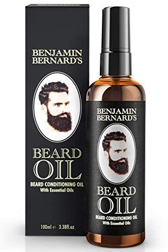 Bartöl - Beard Oil für Männer - Für gesundes Bartwachstum & einen gepflegten Stil - Leicht parfümiert, enthält Jojoba- & Mandelöl - Vegane Bartpflege - 100 ml