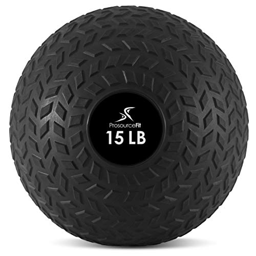 ProsourceFit Slam Medicine Balls 15lbs Tread Textured Grip Dead Weight Balls for Crossfit, Strength and Conditioning Exercises, Cardio and Core Workouts, ps-2221-tsb-15