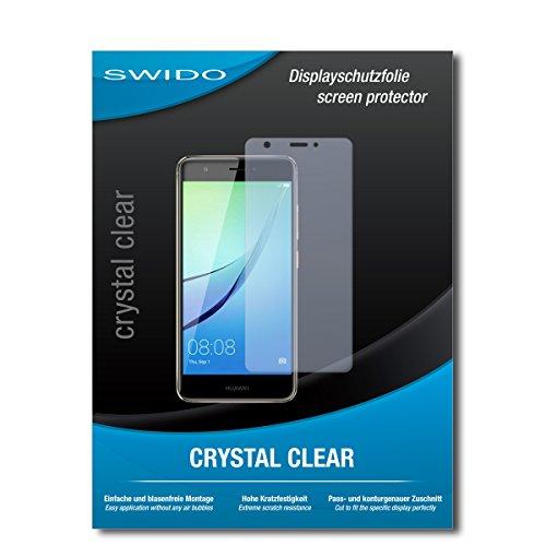SWIDO Bildschirmschutz für Huawei Nova [4 Stück] Kristall-Klar, Hoher Festigkeitgrad, Schutz vor Öl, Staub & Kratzer/Schutzfolie, Bildschirmschutzfolie, Panzerglas Folie