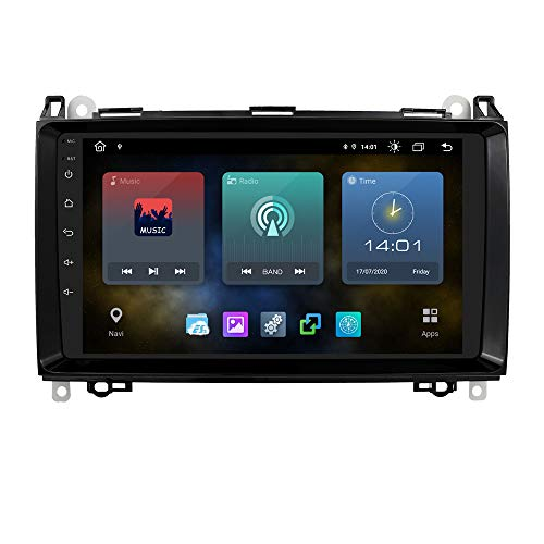 Ossuret Android 10 GPS Car Stereo con Pantalla táctil de 9 Pulgadas 1080P Compatible con Mercedes-Benz A-Class W169, B-Class W245, V-Class W639, W906 Sprinter, VW Crafter 2006 Compatible