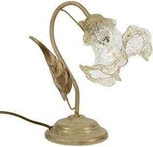 Lupa artesanal de cristal de Murano estilo country, shabby, artesanal