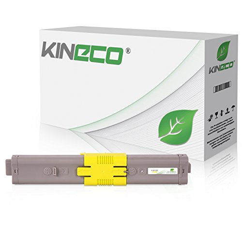 Kineco Toner kompatibel mit Oki C532dn MC563dn C542-DN MC573-DN Yellow 6.000 Seiten