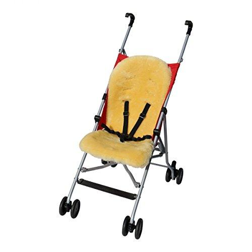 Lamsvel - BUGGY inleg 75x33 cm kinderwagen bont inleg baby Merino schapenvacht