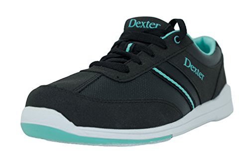 Dexter Dani Bowling-Schuhe für Damen, für Rechts- und Linkshänder Schuhgröße- 39.5 [US 9.5 M (B)], Schwarz Türkis